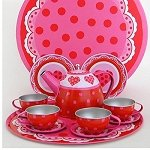 Hearts Tin Tea Set