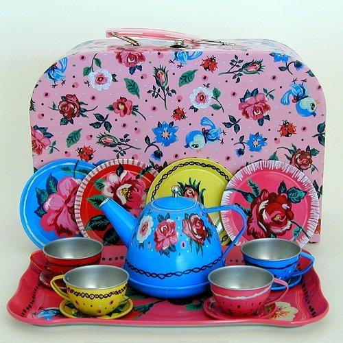 Nathalie Lete Floral Tin Tea Set