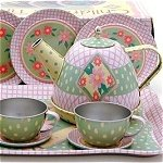 Floral Tin Tea Set