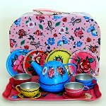 Nathalie Lete Floral Tin Tea Set